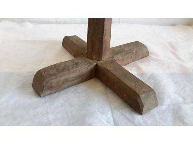 Piede in legno per Supporto TAVOLO o Basamento - 3