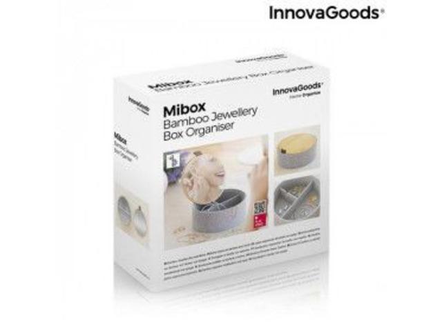 Portagioielli in Bambù con Specchio Mibox InnovaGoods
