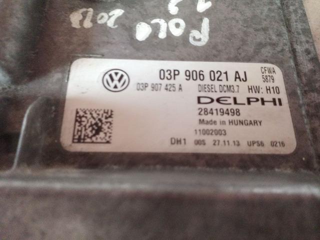 Centralina Volkswagen Polo 1.2 TDI 03P906021AJ - 2/2