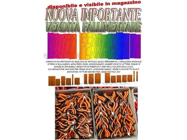 Stock vendita fallimentare di  ferramenta brico 160bancali - 1
