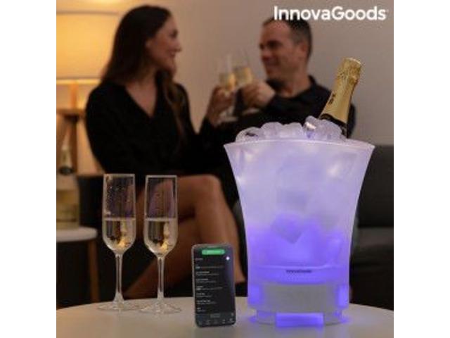 Portaghiaccio LED con Altoparlante Ricaricabile