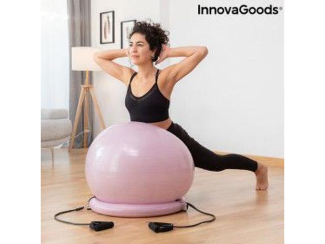 Gym Ball con Anello di Stabilità e Fasce di Resistenza - 1