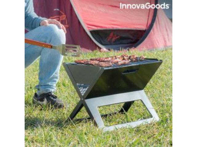 Barbecue Pieghevole Portatile a Carbone - 1