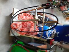 carrello portafusto olio con pompa pneumatica e erogatore digitale