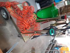 carrello portafusto olio con pompa pneumatica e erogatore digitale - 2