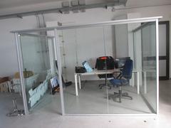Struttura alluminio/vetro per box ufficio o sala attesa o altro