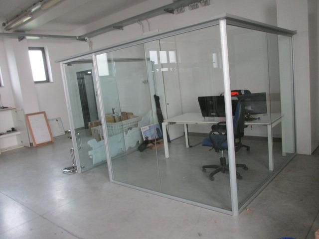 Struttura alluminio/vetro per box ufficio o sala attesa o altro - 2/3