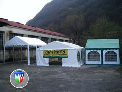 TENDOSTRUTTURE TENDONI PER FESTE GAZEBO  6 X 6 X 3 MT. PVC IGNIFUGO CERTIFICATO MM ITALIA