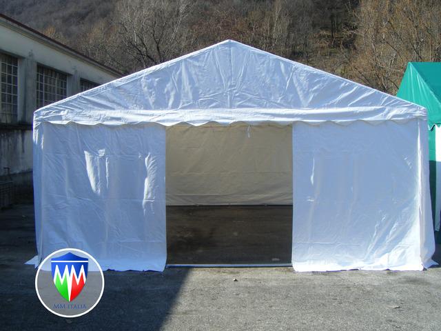 TENDOSTRUTTURE TENDONI PER FESTE GAZEBO  6 X 6 X 3 MT. PVC IGNIFUGO CERTIFICATO MM ITALIA - 6