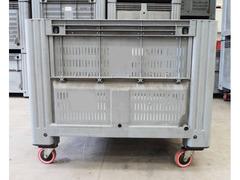 Cassoni bins in plastica con ruote e sportello - 2