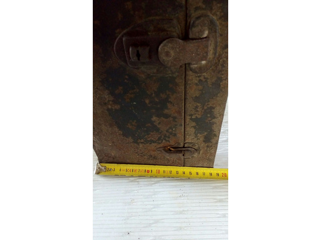 Cassetta porta attrezzi antica in metallo - 7