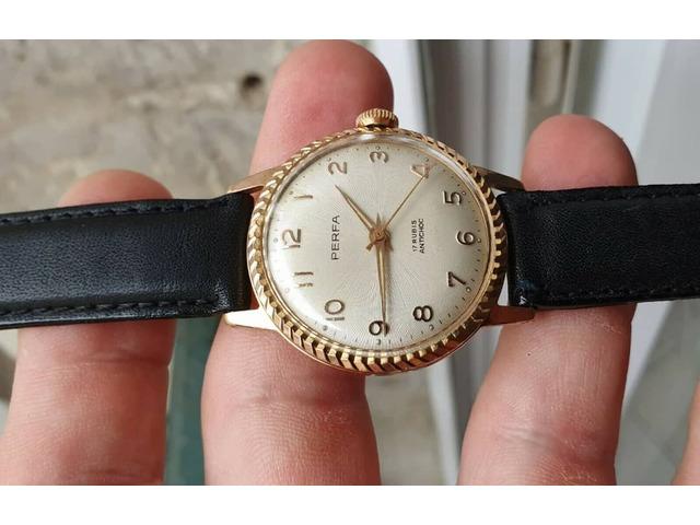 Eccezionale * vecchio orologio in un raro orologio francese vintage meccanico dorato - 1/5