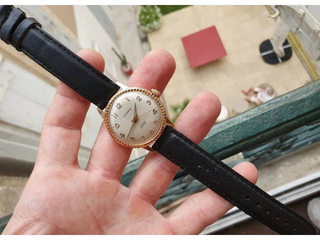 Eccezionale * vecchio orologio in un raro orologio francese vintage meccanico dorato - 2/5