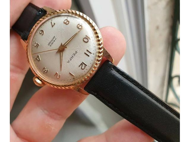 Eccezionale * vecchio orologio in un raro orologio francese vintage meccanico dorato - 3/5