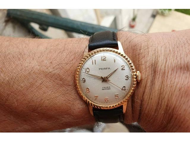 Eccezionale * vecchio orologio in un raro orologio francese vintage meccanico dorato - 5/5