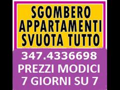 ROMA SGOMBERI GRATIS ABITAZIONI BOX CANTINE LOCALI 7GG SU7