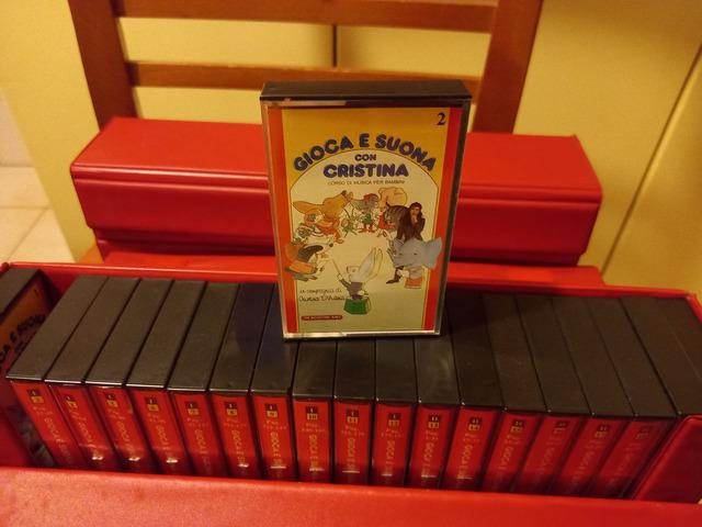 """Cristina D'Avena. Box completo """"Gioca e suona con Cristina"""" - 6/8"""