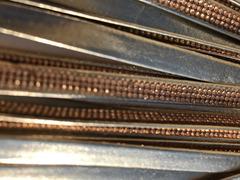 Cinturini ecopelle colore oro con strass rame - 1