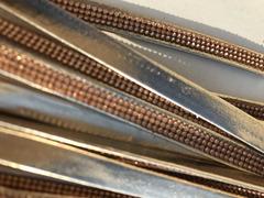 Cinturini ecopelle colore oro con strass rame - 2