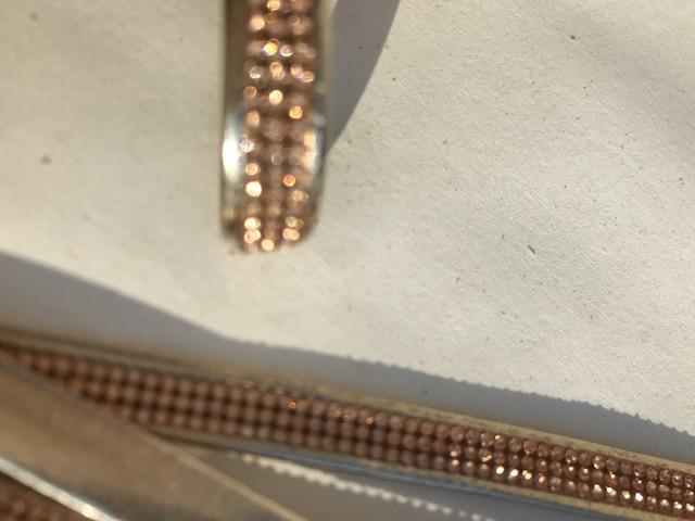 Cinturini ecopelle colore oro con strass rame - 3/8