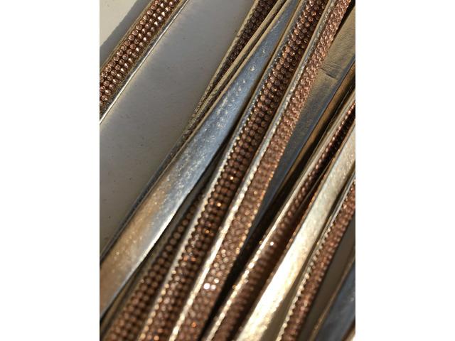 Cinturini ecopelle colore oro con strass rame - 4/8