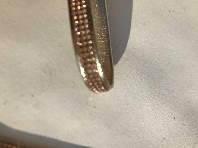 Cinturini ecopelle colore oro con strass rame - 5/8