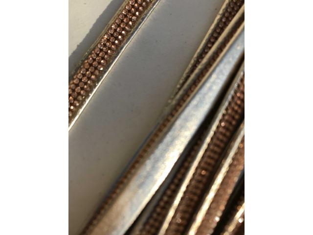 Cinturini ecopelle colore oro con strass rame - 8/8