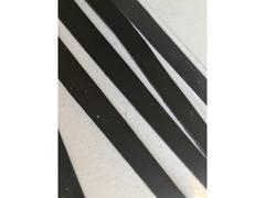 Cinturini pelle nera per artigianato - 8