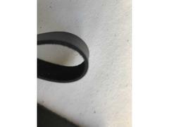Cinturini pelle nera per artigianato - 9