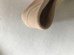 Fasce tomaie pelle scamosciata sabbia per zoccoli donna