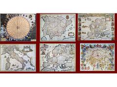 Lotto di 30 carte geografiche antiche in formato 30X40 cm