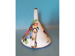 Imbuto per cucina in ceramica decorata anni 60