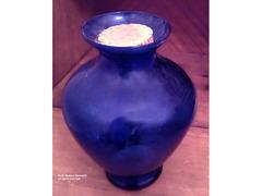 Vendo Vaso blu trasparente in vetro fine degli anni 60-70.