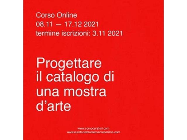 Progettare il catalogo di una mostra d'arte - corso online - 1/1