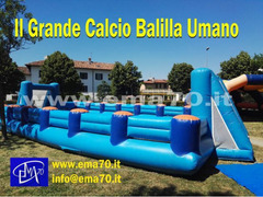 NOLEGGIO CALCIO BALILLA UMANO GONFIABILE