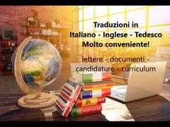 Traduzioni in ITALIANO – TEDESCO – INGLESE!  Molto conveniente!