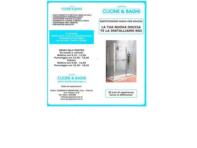 Sostituzione vasca con doccia,Varese,Gallarate,Cardano al Campo,Samarate - 4/7