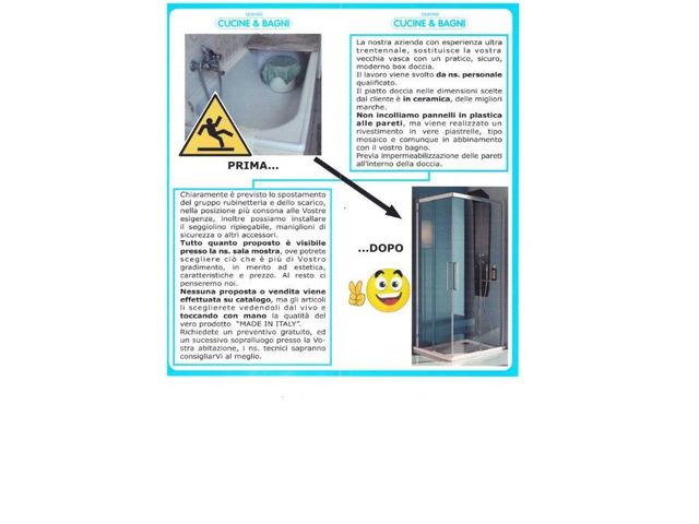 Sostituzione vasca con doccia,Varese,Gallarate,Cardano al Campo,Samarate - 5/7