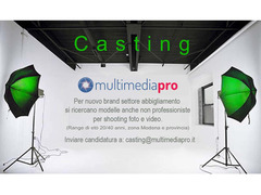 Casting Photoshoot per abbigliamento