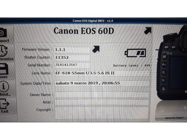 Canon Eos 60d + Obiettivo 18-55__11.000 scatti - 2