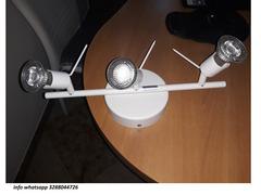 Luce Moderno Faretto Parete con 3 LED bianco finitura faretti