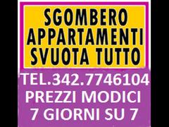 Sgomberi anche gratuiti abitazioni box cantine uffici locali 7gg su7