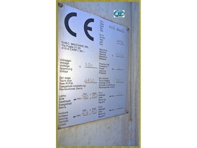 SEZIONATRICE VERTICALE CON INCISORE USATA PER LEGNO COD.M001 - 3/6