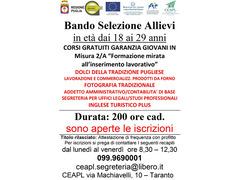 Corsi gratuiti Garanzia Giovani 2019