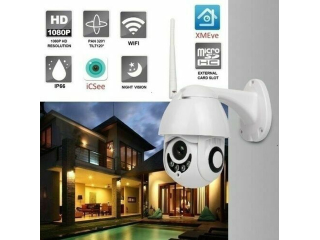 Telecamera wifi ip mini speed dome da esterno ip66 2 mpx 1080p - 2