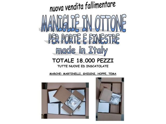 Stock maniglie in ottone made in Italy 18000 pezzi - 1