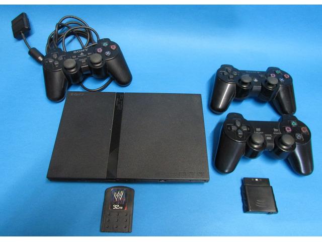 Console PS2 slim+3 joystick+memoria 32 MB+13 giochi
