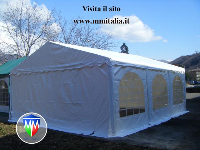 Gqzebi Tendoni per Feste 6 x 6 telo in Pvc Ignifugo  MM Italia