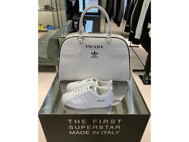 Prada Adidas Limited Edition Sneaker Superstar Bowling Bag (only 700 in the world) - 2/11