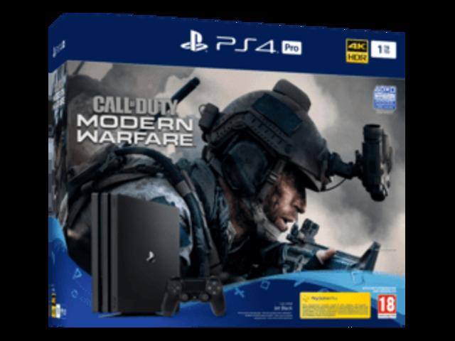 PlayStation 4 Pro Bundle Call of Duty: Modern Warfare da 1 TB - Console di gioco - Jet Black